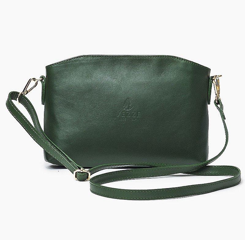 3c2ee572dfd2e Skórzana Włoska zielona torebka listonoszka MELANIA  Skórzana Włoska zielona  torebka listonoszka MELANIA ...