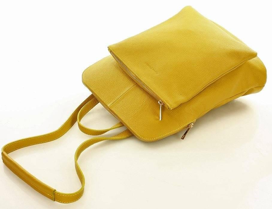 0f04759171787 ... Camilla MARCO MAZZINI Plecak damski torebka crossbody A4 żółty ...