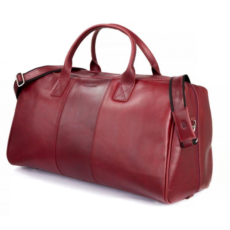 75ed31b2b9520 ... GERONE Czerwona męska torba ze skóry Podróżna smooth leather ...