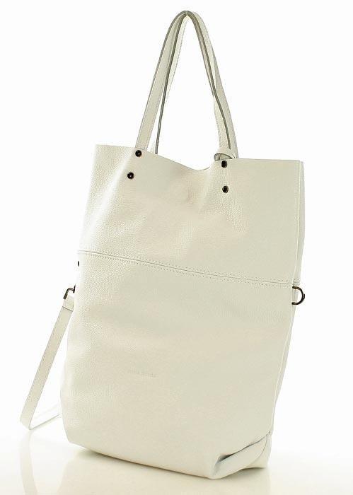 561182fb1f62f ... Torebka sacco XL skóra vera pelle MARCO MAZZINI - Alessia biała ...