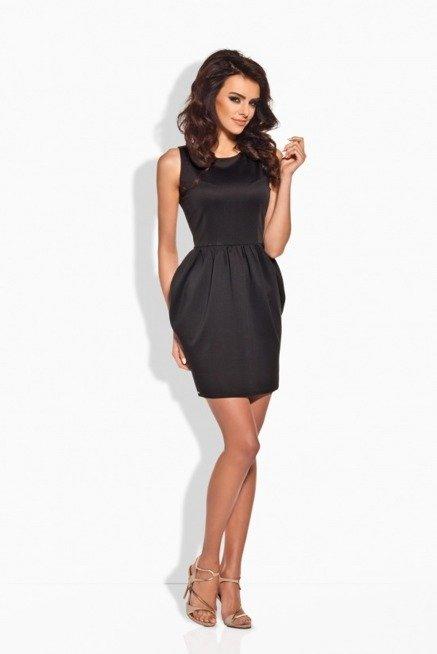 Klasyczna sukienka w formie bombki czarna IVETTE
