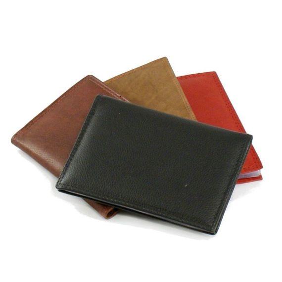 CZARNY Skórzane Etui Money Maker na dokumenty i karty