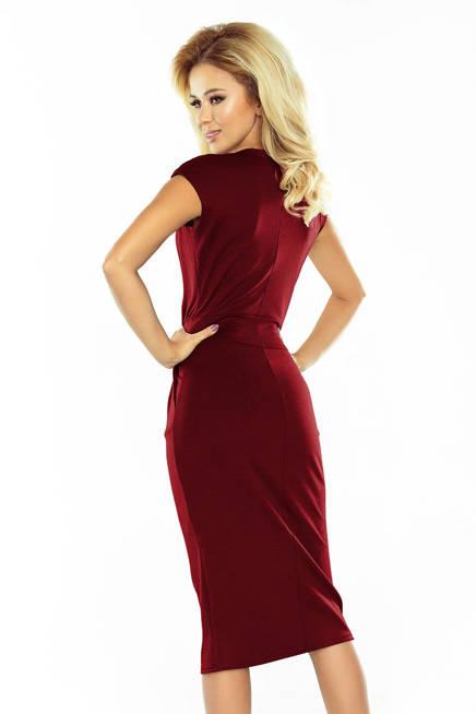 BRITA Sukienka midi z podwyższonym stanem - BORDOWA