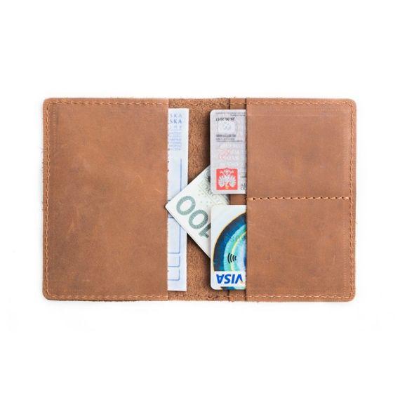 Komplet: portfel + bilonówka Brodrene jasny brąz