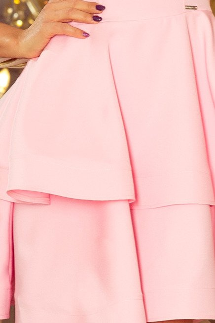 MAGDA Sukienka rozkloszowana - PASTELOWY RÓŻ