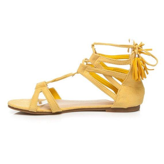 Wiązane Sandały Z Frędzlami Nicole