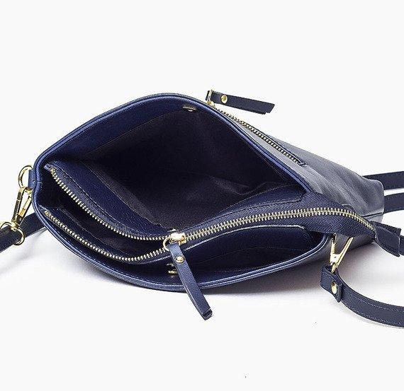 Skórzana Włoska brązowa torebka listonoszka MELANIA