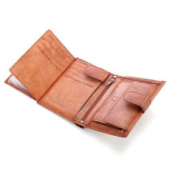 Skórzany portfel męski Bag Street Brąz