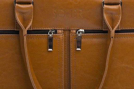 Męska torba ze skóry na ramię, laptopa ROYAL camel