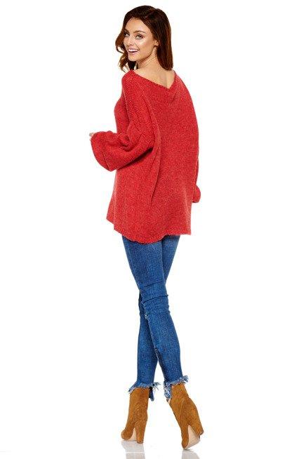 Sweter z wyjątkowymi rękawami  bordo ANGEL