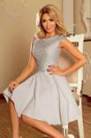 Sukienka MARIA z koronką - JASNO SZARA