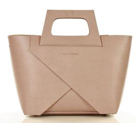 Carla MARCO MAZZINI Oryginalna torebka do ręki shopper basket beż lilla