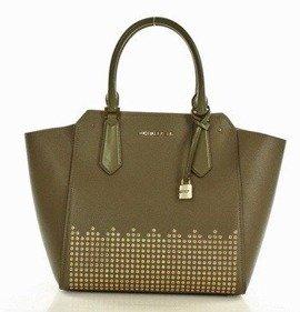 Luksusowa torebka tote MICHAEL KORS - HAYES - olive/ballet