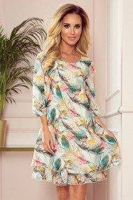 IVETTE szyfonowa sukienka z dekoltem na plecach - KOLOROWE PIÓRA